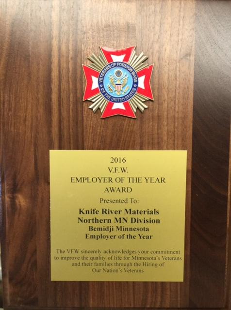Knife River Award